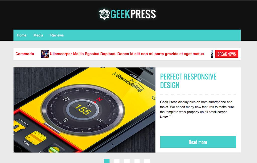 """【bloggerテンプレート】おすすめ!bloggerテンプレート""""geek press"""""""