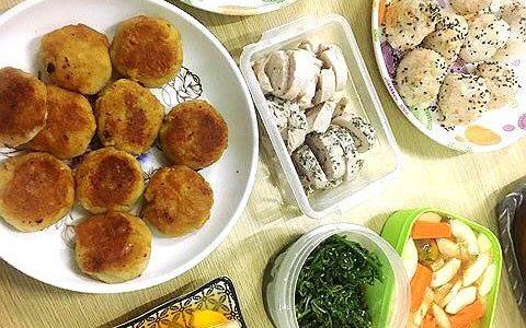 チーズ芋もち (写真左)